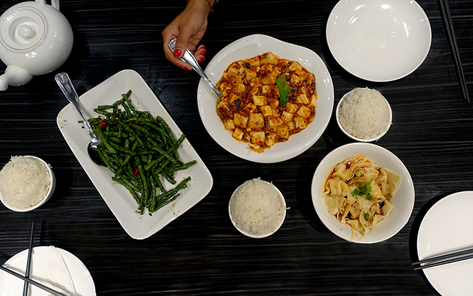 tablescape-Kung Pao WOW Chicken