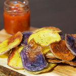 Oven Baked Potato Chips -- square