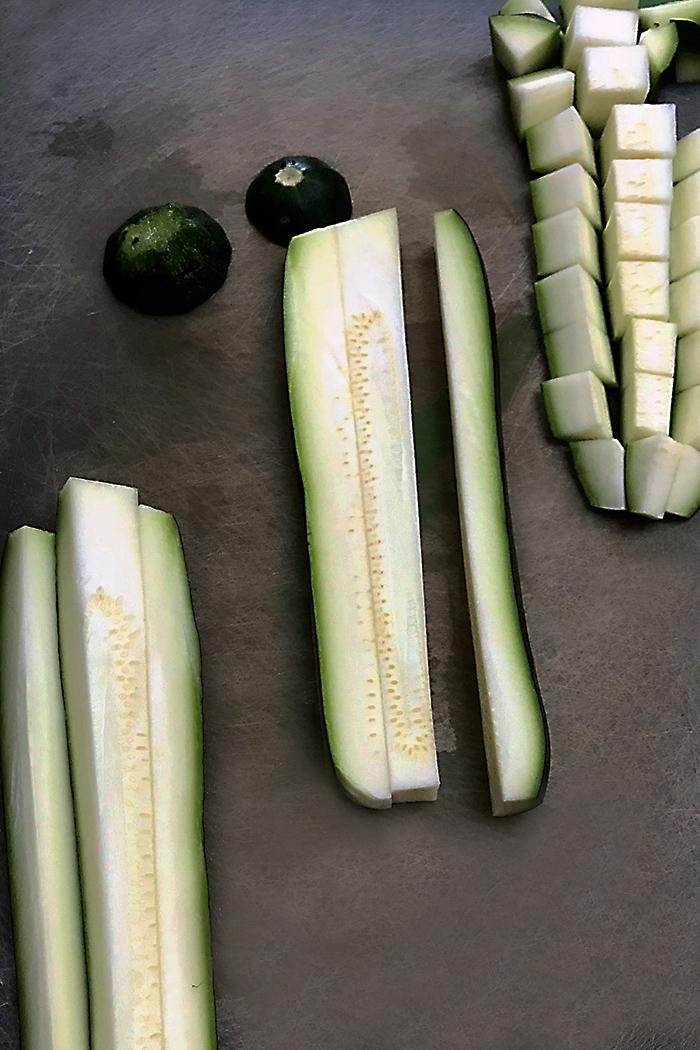 Sauteed Zucchini - cut up-IMG_0046