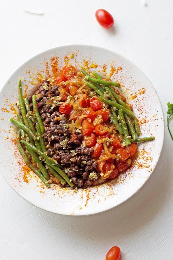 adobo green bean quinoa salad-main